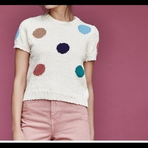 Knit Polka Dot Top